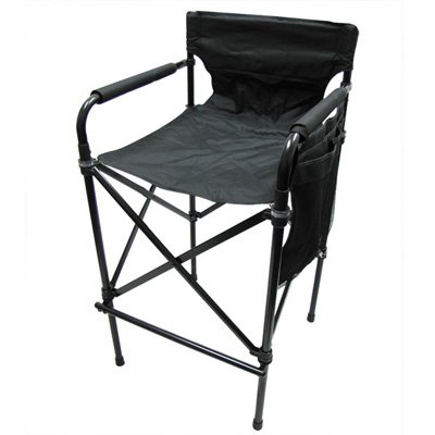 Telescopic Tall Directoru0027s Chair Folding Directors Chair Camping Chair  (Carry Case Included)