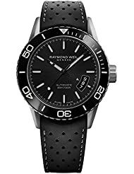Raymond Weil Freelancer Swiss Automatic Stainless Steel and Rubber Casual Watch, Color:Black (Model: 2760-TR1...