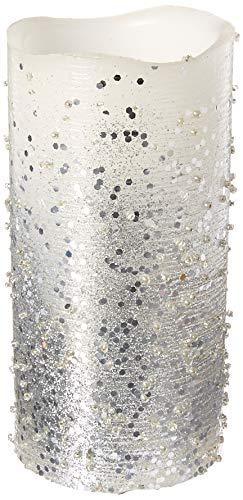 Glitter Pillar - Darice Silver Glitter & Scratch LED Candle & Tea Light Set