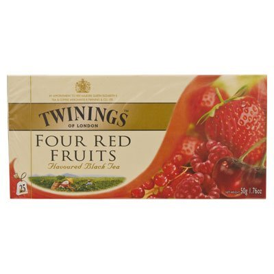 (Twinings Four Red Fruits Flavoured Black Tea 50g. (2g.x25 Sachets))