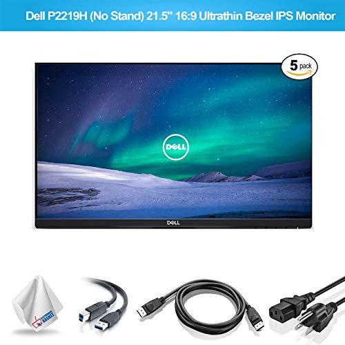 Dell P2219H 21.5-Inch 16:9 Ultrathin Bezel IPS Monitor No Stand (P2219HNS) with Microfiber Cleaning Cloth - 5 - Pack -  P2219H_EDIMA2_112