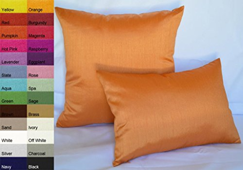 Read About Aiking Home Solid Faux Silk Euro Sham/Pillow Cover, Zipper Closure, Multi Color/Size