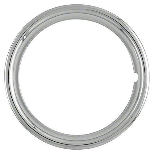 Upgrade Your Auto Set of Four 16 Chrome ABS 1 1//2 Deep Wheel Trim Rings