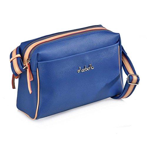 dos pour unica Sac azulon au 851 talla à Bleu EL femme porté CABALLO 1014 main zUp668