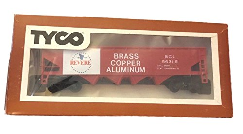 Tyco HO Scale Revere Brass Copper Aluminum Hopper Cargo Train Car in Box - Aluminum Hopper