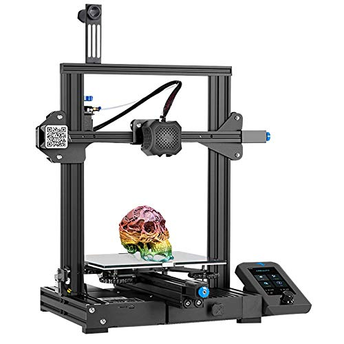 Creality Official Ender 3 V2 3D Printer, FDM 3D Printers Kit with Upgraded Silent Motherboard, Glass Bed, Mean Well…