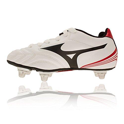 Mizuno Unisex Kids' Waitangi Jr Rugby Boots White 3AS6S