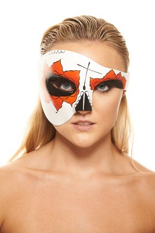 KAYSO INC Day Of The Dead Masks – Dia De Los Muertos Half Face Masquerade Masks, Yucatan