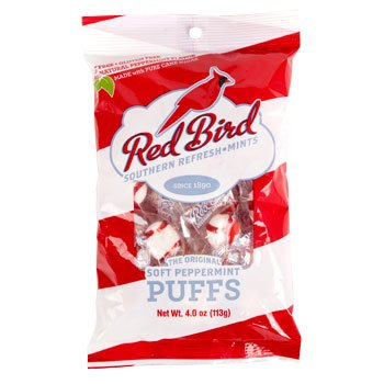 Red Bird Soft Peppermint Puffs Candy Pack (4 Pack) ()