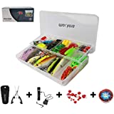 Mockins All in One Fishing Set Includes 139 Piece Fishing Lure Kit   Fishing Flashlight   120g Fishing Sinker Kit   Fishing Pliers   12 Pieces Fishing Floats Fishing Gear