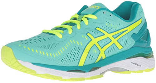 ASICS Women's Gel-Kayano 23 Running Shoe, Cockatoo/Safety Yellow/Lapis, 7.5 M US
