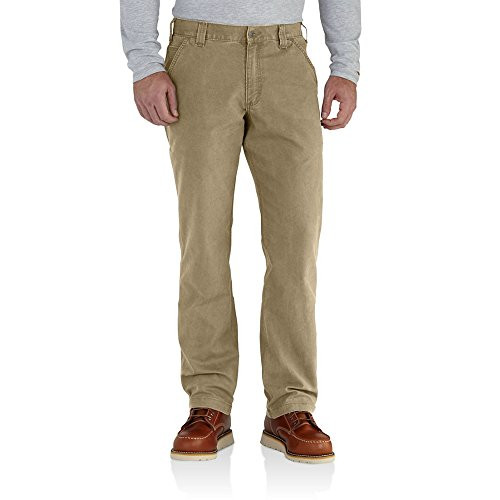 Carhartt Men's 102291 Rugged Flex Rigby Relaxed Fit Pant - 33W x 28L - Dark Khaki (Relaxed Fit Utility Pant)