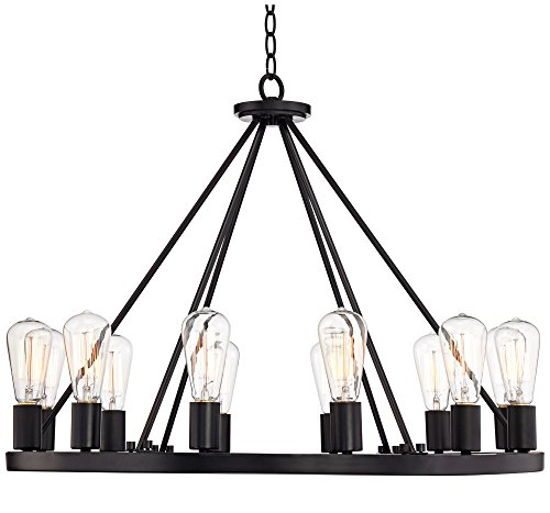 Iron Works Iron Chandelier - Lacey 28