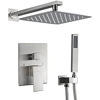 Embather Brass Rainfall Shower Systems Wall Mounted With