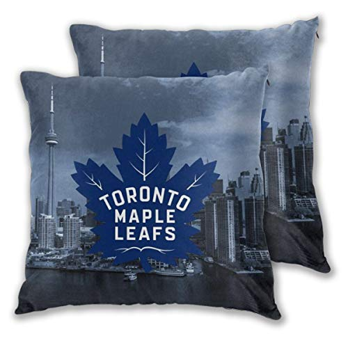 Soft Decorative Square Throw Pillow Covers Toron-to Maple Leafs Cushion Cases Pillowcases for Sofa Bedroom Car No Pillow Insert (Patio Toronto)