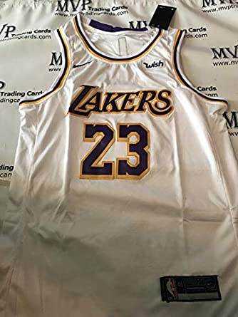 Lebron James White Los Angeles Lakers Mens Size Large Jersey