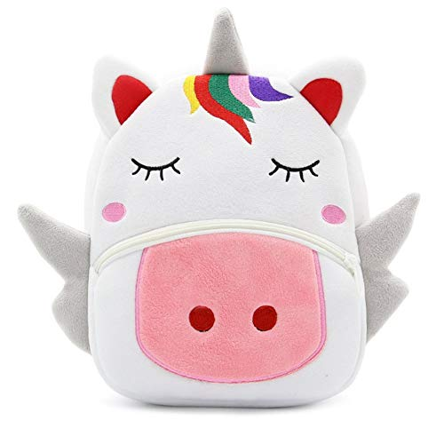 Cute Toddler Backpack Toddler Bag Plush Animal Cartoon Mini Travel Bag for Baby Girl Boy 1-6 Years (Large Unicorn) (Best Gifts For A 3 Year Old Little Girl)