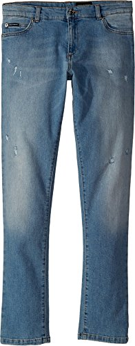 Dolce & Gabbana Kids Boy's Five-Pocket Trousers (Big Kids) Dark Blue - And Dolce Gabbana Dark Blue