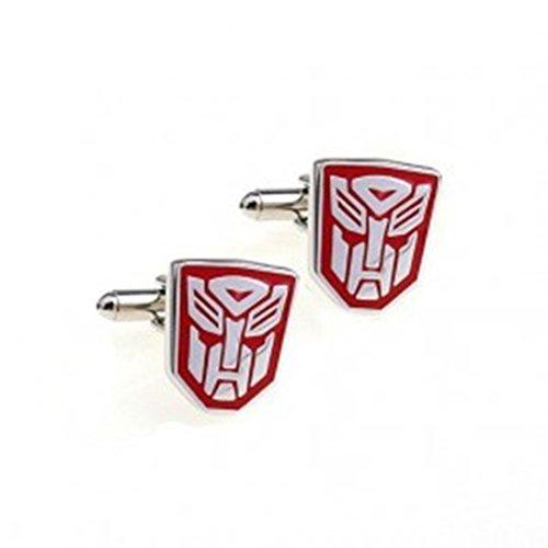 BTS Optimums Prime Red Boarder Transformer Autobot Cufflinks Cuff Links Marvel Comics YH-493R1