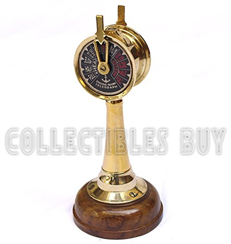 Royal Mini Nautical Brass Handmade Telegraph Vintage Maritime telescopes Collectible Item … (Wooden) -