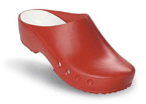 Schürr Classic OP mit ohne Schuhe Fersenriemen Rot und Chiroclogs PF4wBqP