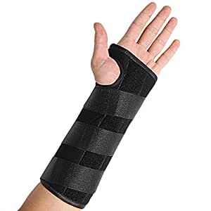 Wrist Brace, BULESK Wrist Support for Wrist Pain,Carpal Tunnel, Tendonitis, Sports Injuries, 3 Straps Adjustable, Breathable for Sports, Removable Splint,(Left Hand) - Large