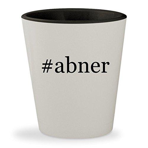 Lil Abner Costumes (#abner - Hashtag White Outer & Black Inner Ceramic 1.5oz Shot Glass)