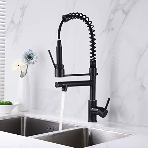 Commercial Kitchen Faucet Oil Rubbed Bronze Delle Rosa Modern Single Handle High Arch Spring Pre-rinse Farm Kitchen Sink Faucets by Delle Rosa (Image #3)