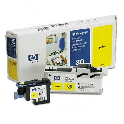 (C4823a (Hp80) Printhead & Cleaner Yellow