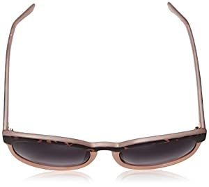 A.J. Morgan Women's Endearing Round Sunglasses, Matte Tortoise / Pink, 56 mm