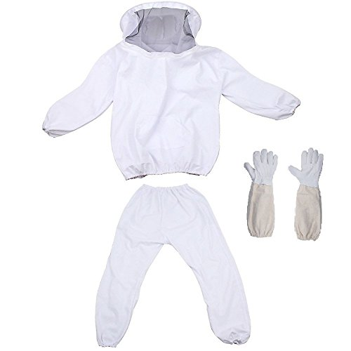 REAMTOP Professional Beekeeper Suit (Jacket, Pants, (Beekeeper Costume Accessories)