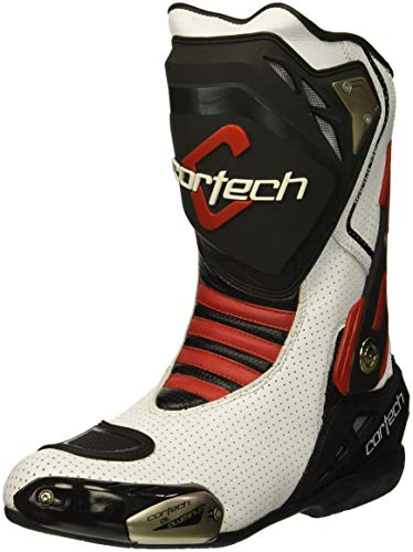 - Cortech Men's Impulse Air Road Race Boot (White/Red, Size 11)