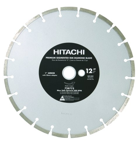 (Hitachi 728773 12-Inch Dry Cut Segmented Rim Diamond Saw Blade for Concrete and Masonry (Discontinued by the Manufacturer))
