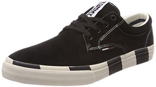 Hilfiger Jeans Hommes Noir Baskets En Daim Tommy (noir 990)