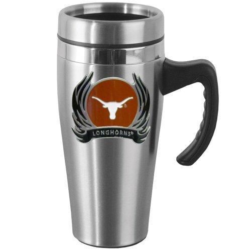 Longhorn Handles - NCAA Texas Longhorns Steel Flame Style Logo Travel Mug with Handle