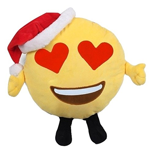 Emojicon Christmas & Hannukah Pillows (Christmas Heart Eyes) -