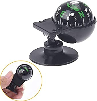 Car Boat Truck Suction Pocket Ball Dashboard Dash Mount Navigation Compass Black