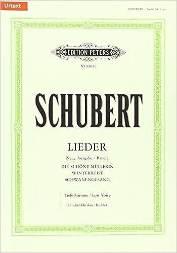 Book Lieder, Band 1 / Neue Ausgabe / URTEXT: Tiefe Singstimme / (für Gesang und Klavier)