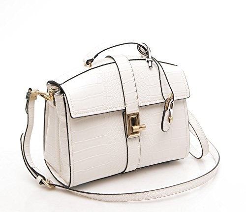 Trussardi Borsa Donna Suzanne Cocco Printed Backpack bianco