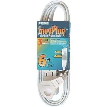 Amazon.com: Prime Wire & Cable EC930606 6-Foot 16/3 SPT-2 3-Outlet ...