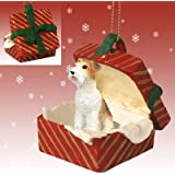 WIRE HAIR FOX TERRIER Dog NEW Red Gift Box Christmas Ornament RGBD59