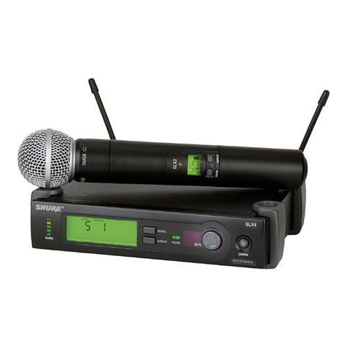Shure SLX24/BETA58-G4 Wireless Microphone System (G4/470-494 MHz), Includes SLX4 Receiver, SLX2 Handheld Transmitter and Beta 58 Microphone by Shure