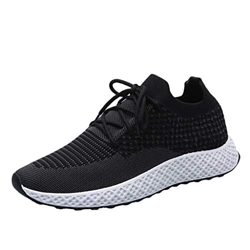 iHPH7 Sneakers Athletic Running Shoes Fashion Casual Walking Shoes for Men Tennis Baseball Racquetball Cycling Outdoor Men Shoes (39,Black)