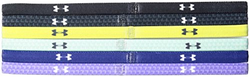 Under Armour Girls' Graphic Headbands - 6 Pack, Black/Smash Yellow, One Size Fits All by Under Armour (Image #2)
