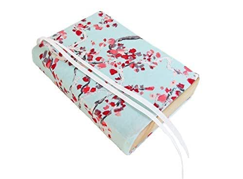 """5"""" TRADE Small Paperback Book Cover BLUE BLOSSOMS Stretch, Floral Book Sleeve for Paperback 5x7, Novel Book Cover Small"""