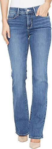 NYDJ Women's Marilyn Straight Leg Denim Jeans Short Inseam, Heyburn Wash, 14 Short