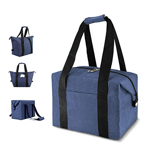 Bag Denim Toy (MODARANI Small Denim Blue Soft Lunch Box Tote Reusable Ice Pack Cooler Bag Insulated Grocery Bag)