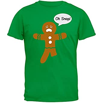 Lost Gods Oh Snap Christmas Gingerbread Man Boys Graphic T Shirt