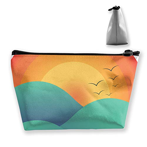 Yunshm Birds Homing at Sunset On Mountains Personalized Trapezoidal Storage Bag Ladies Waterproof for Carrying Travel]()