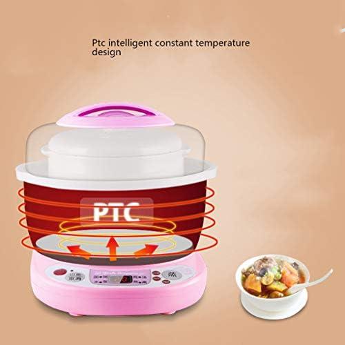 Elektrische keuken, waterdicht, kleine opwarming, mini-havensoep van wit keramiek met timer, rijstkoker met inductieverwarmingssysteem met verwarming en handgreep.